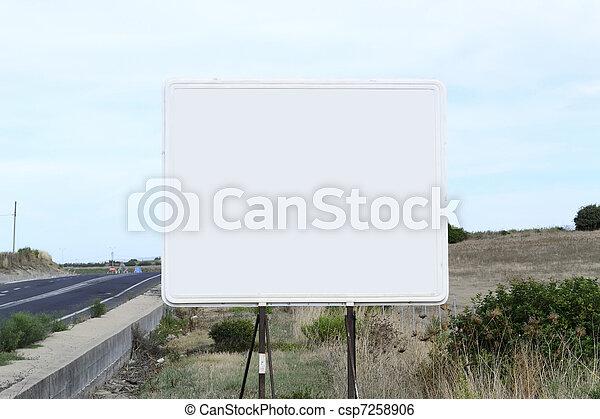 blank billboard - csp7258906
