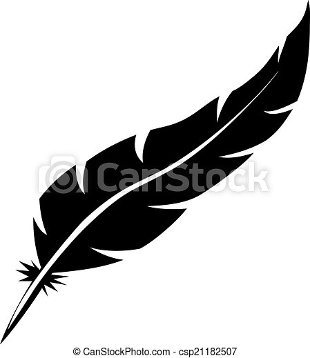 blank bird feather vector shape isolated on white vector clipart rh canstockphoto com feather vector free feather vector free