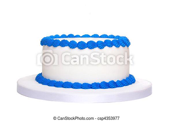 Blank birthday cake - csp4353977