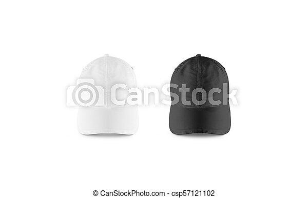 14bd9f8b9d2 Blank black and white baseball cap mockup set