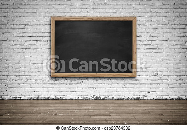 Blank Black Chalkboard Background And Texture