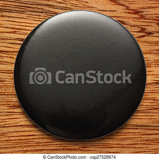 Blank black round badge - csp27528974
