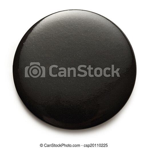 Blank black round badge - csp20110225