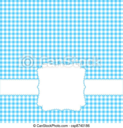 Blank Blue Card Invitation With Label