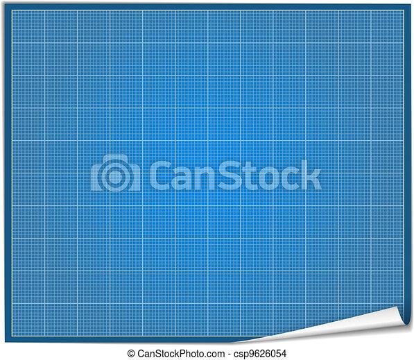 Blank blueprint paper vector eps10 illustration blank blueprint paper csp9626054 malvernweather Images