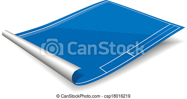Vector illustration of blank blueprint with shadow vector clip art blank blueprint csp18016219 malvernweather Gallery