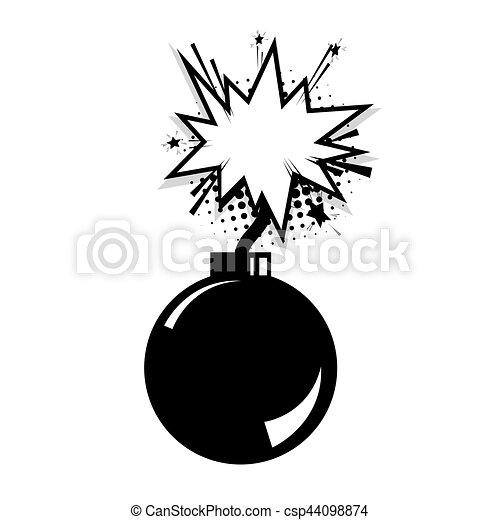 Blank bomb comic speech cloud bubble - csp44098874