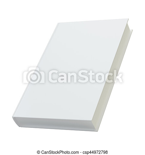 blank book cover template for mockup 3d rendering isolated on