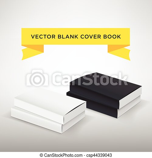 blank book cover vector illustration softcover book or magazine