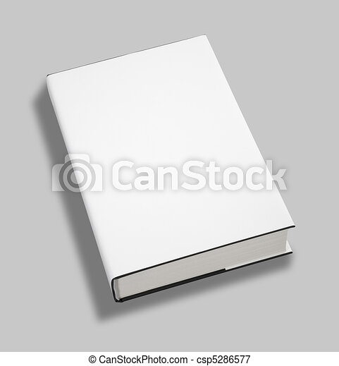 Blank book cover w clipping path - csp5286577
