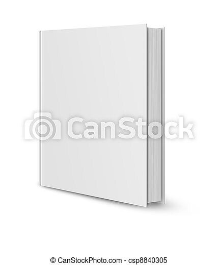 Blank book cover white  - csp8840305