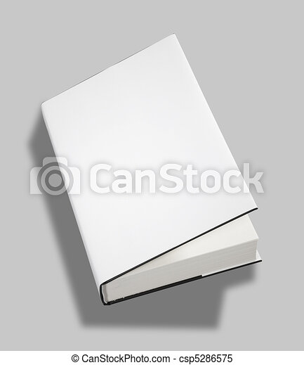 Blank book open cover w clipping path - csp5286575