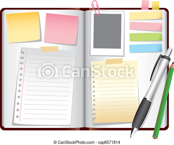 blank book pages template vector illustration