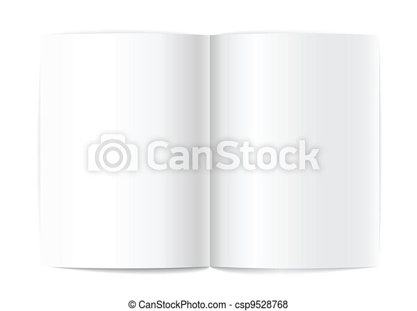 Blank book pages vector template for a content.