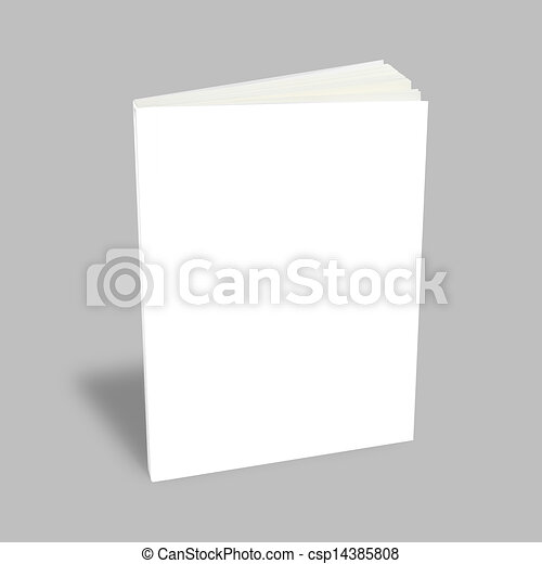 Blank book with white cover - csp14385808