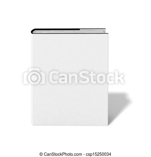 Blank book with white cover  - csp15250034