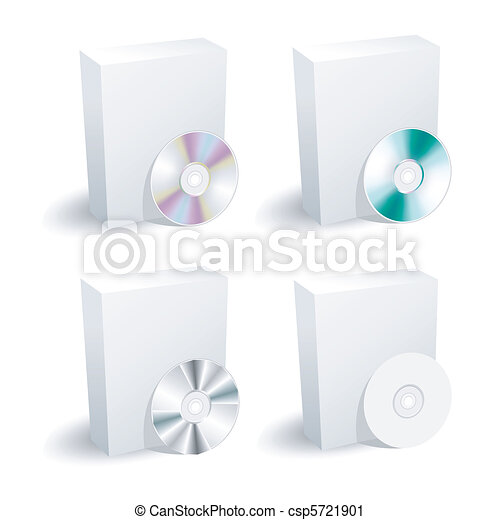 blank box and dvd collection  - csp5721901