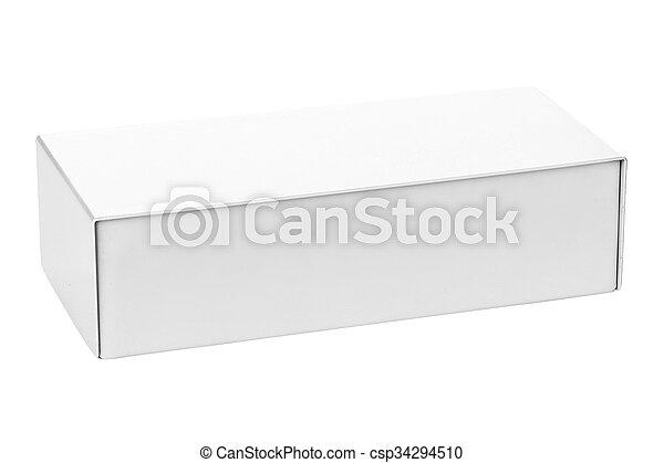 Blank box isolated on white background - csp34294510