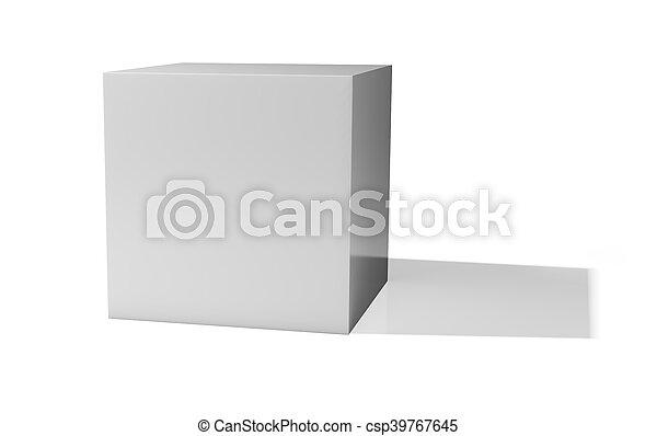 Blank box isolated on white background - csp39767645