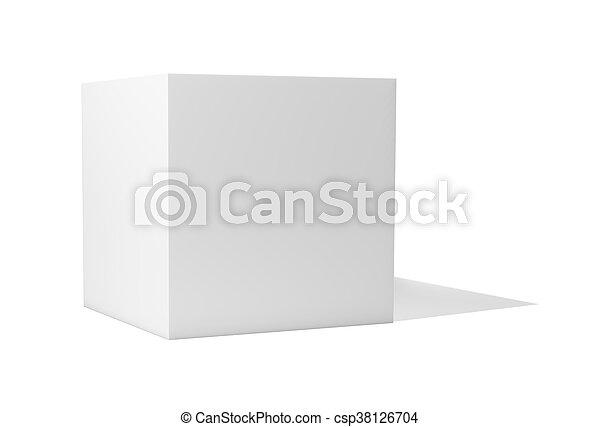 Blank box isolated on white background - csp38126704