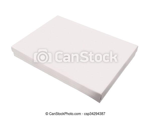 Blank box on white background - csp34294387