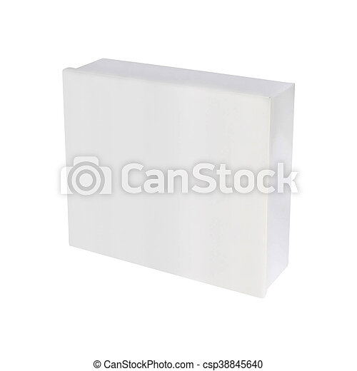 Blank box on white background - csp38845640