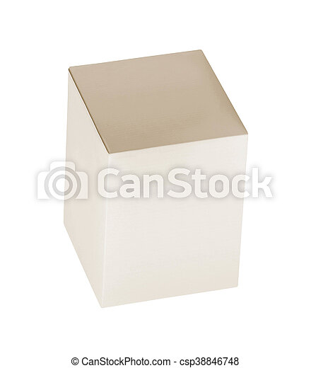 Blank box on white background - csp38846748