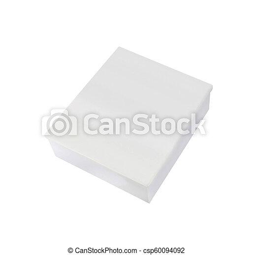 Blank box on white background - csp60094092