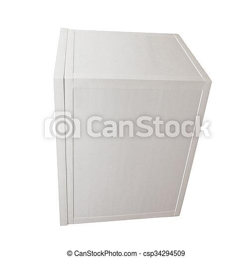 Blank box on white background - csp34294509