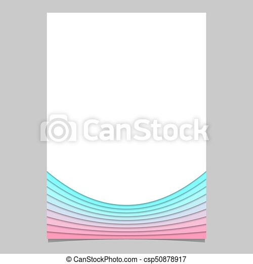Blank Brochure Template From Curves Vector Flyer Graphic With 3d