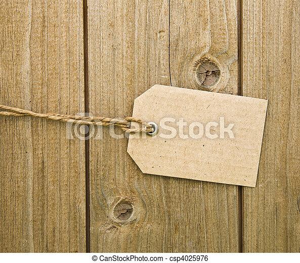 Blank Brown Cardboard Tag - csp4025976