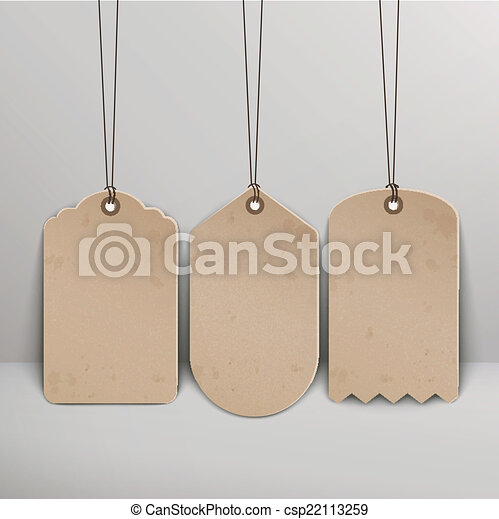 blank brown price tags - csp22113259