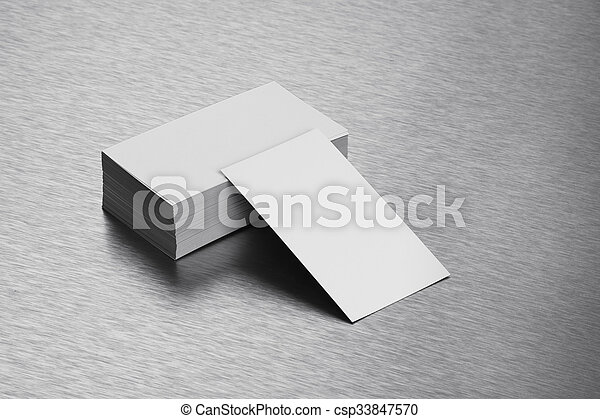 Blank business card mockup on brushed steel background blank business card mockup on brushed steel background csp33847570 reheart Choice Image
