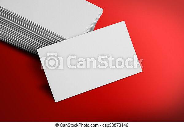 Blank business card mockup on red background blank business card mockup on red background csp33873146 reheart Gallery