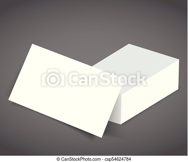 Blank business card with shadow mockup cover template blank vector blank business card with shadow mockup cover template csp54624784 reheart Images
