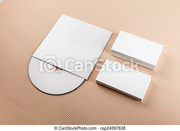 Blank business cards and cd business cards and compact disk blank business cards and cd csp24397638 reheart Images