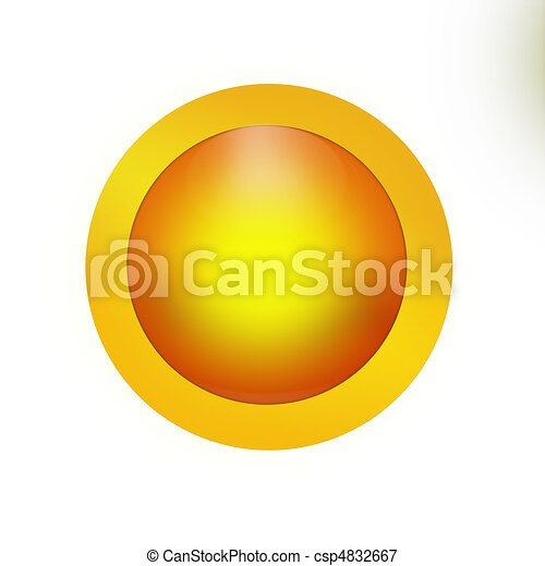 Blank Button Icon - csp4832667