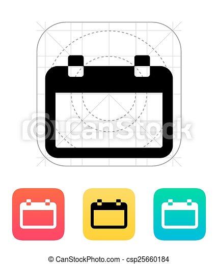 blank calendar icon vector illustration vector search clip art rh canstockphoto com calendar icon vector free calendar icon vector png