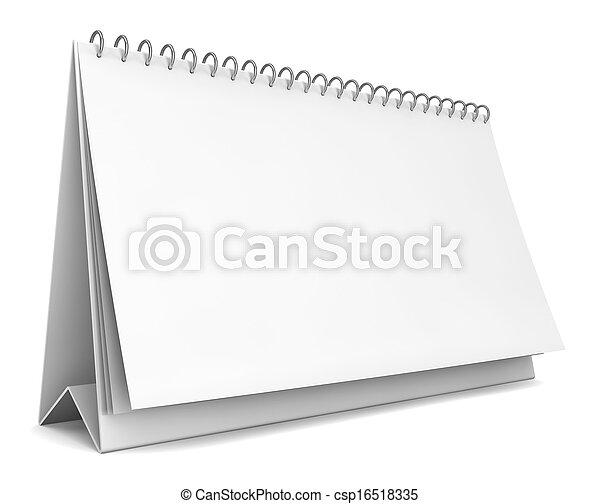Blank calendar - csp16518335