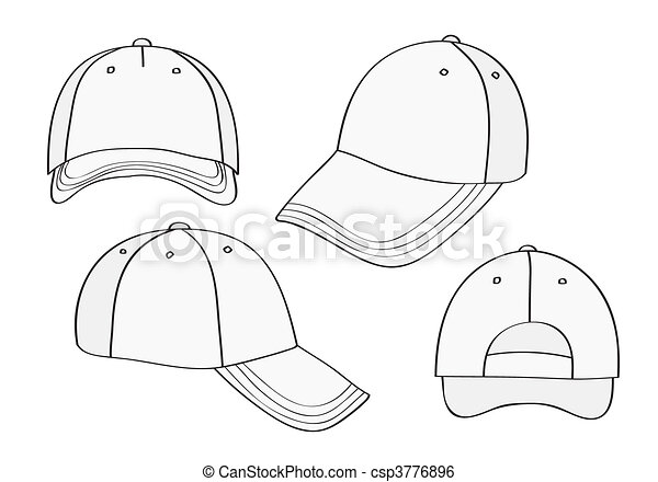 7b8af9e01a3 Blank cap (different points of view) with space for your design .