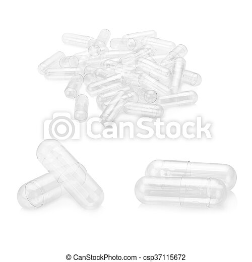 Blank capsule isolated on white background - csp37115672