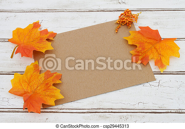 Blank Card for your fall message - csp29445313