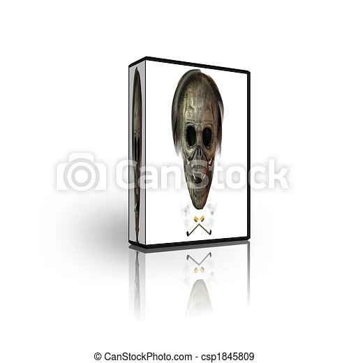 blank cd dvd box template isolated on white
