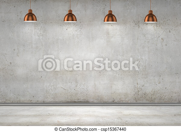 Blank cement wall - csp15367440