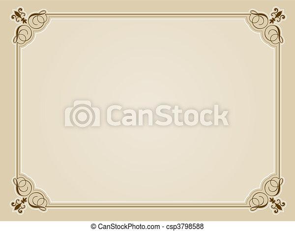Blank certificate background. Decorative blank certificate... vector ...