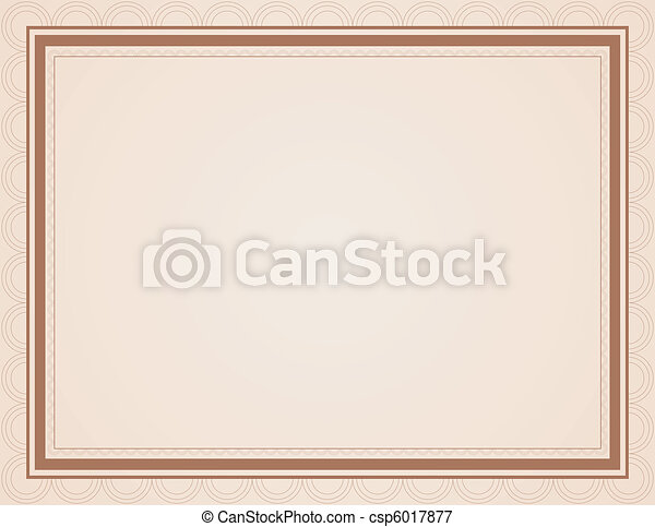 Blank Certificate in Shades of Brown - csp6017877