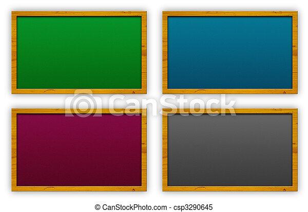 blank chalkboard or cork board csp3290645