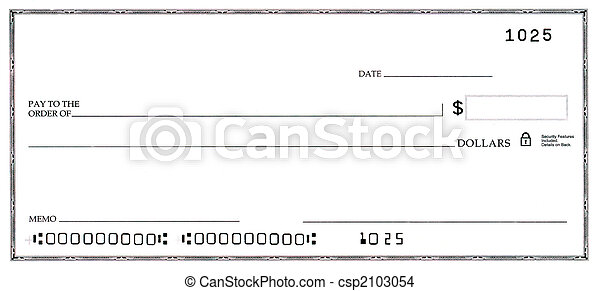 Blank Check with False Numbers - csp2103054