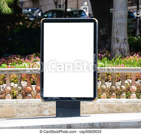 Blank city billboard - csp30629033