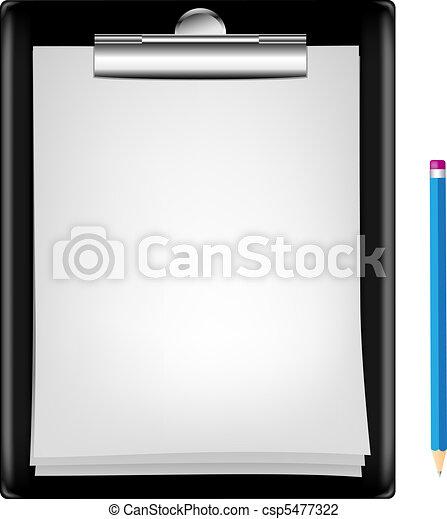 blank clipboard - csp5477322